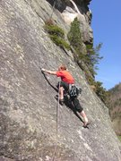 Rock Climbing Photo: South facing side friction on granite, in May.