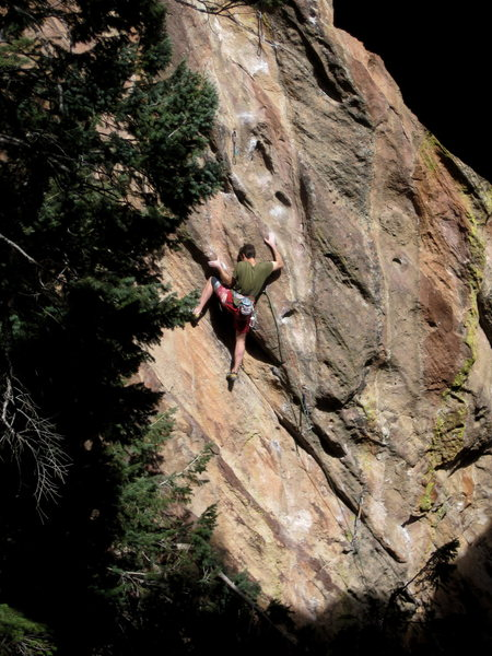 Rock Climbing Photo: Bart Paul going for the send on Choose Life in the...
