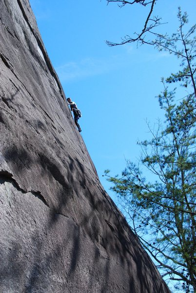 Rock Climbing Photo: Frost Walker starting up lakeview on a sunny winte...