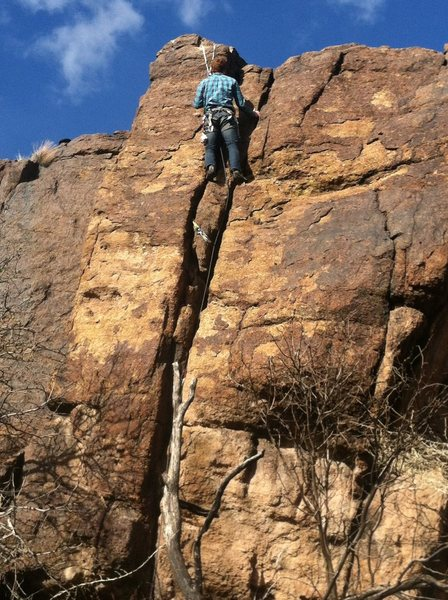 Rock Climbing Photo: Buckshot Crack