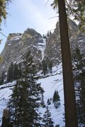 Rock Climbing Photo: Location from the Tokopah Falls trail.  Top of the...