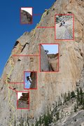 Rock Climbing Photo: composite view of the route.