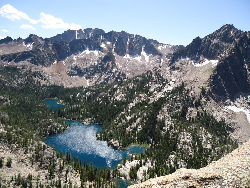 Rock Climbing Photo: Saddleback lakes as seen from the ledge on Astro-E...