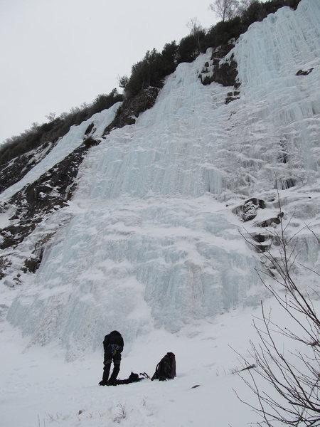 Rock Climbing Photo: At the base of Twenty Below
