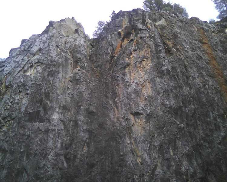 Twin Towers (upper quarry) 250 feet tall. Endurance climbing on good edges.