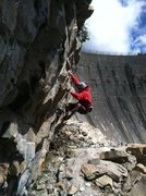Rock Climbing Photo: Hansi Standtheiner on the third ascent of Thrillbi...