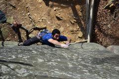 Rock Climbing Photo: Crux numero uno.