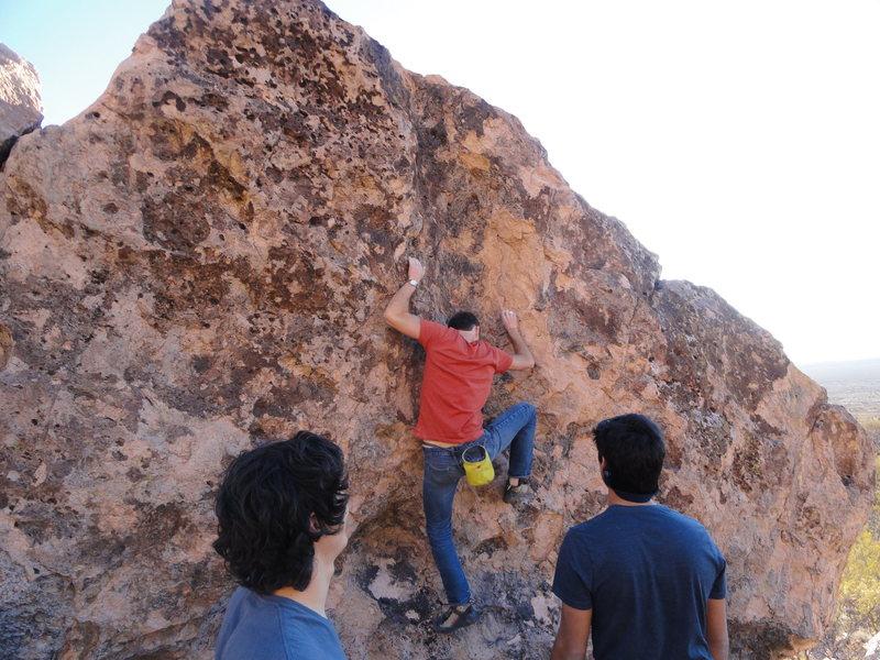 Triston climbing Zero the Hero