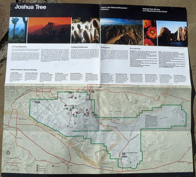 Visitor Guide (1992), Joshua Tree National Monument<br>
