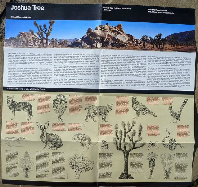 Visitor Guide (1992), Joshua Tree National Monument