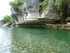 Rock Climbing Photo: One of the Paynes Ford watering holes on the Takak...