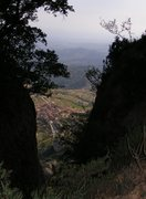 Rock Climbing Photo: Montsant Barrots loop  hike - looking down to More...