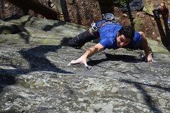 Rock Climbing Photo: Crux numero dos