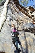Rock Climbing Photo: Erin Larsen starting Enteruptus