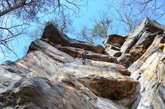 Rock Climbing Photo: Erin Larsen gettin' into it!
