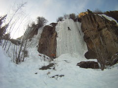 Rock Climbing Photo: Bigcicle ice on Feb. 23 2013, conditions were grea...