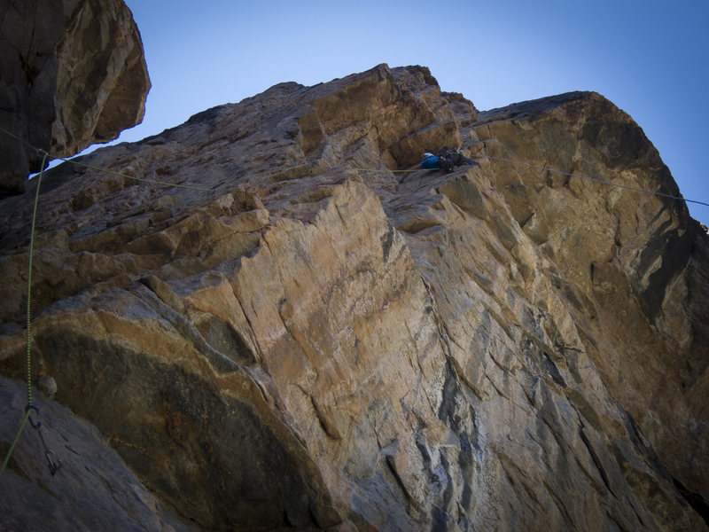 Rock Climbing Photo: Madaleine Sorkin approaching the large, partially ...