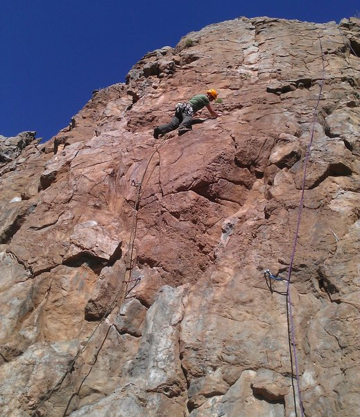 Rock Climbing Photo: Part way up the route