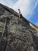 Rock Climbing Photo: This picture shows how to avoid the runout, left-f...