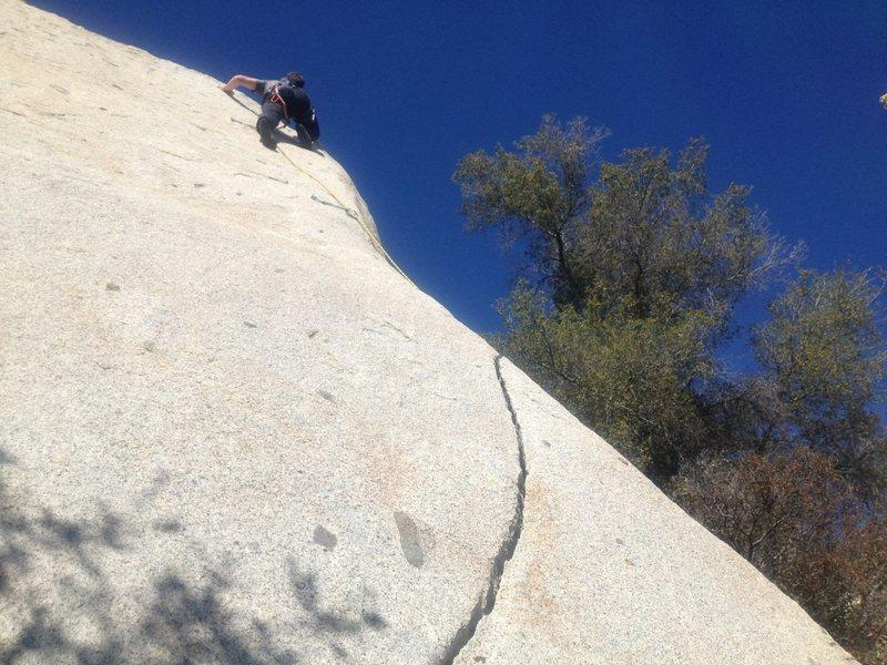 Rock Climbing Photo: Fun on lead
