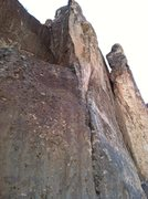Rock Climbing Photo: Better view of the upper pitch