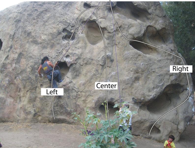 Rock Climbing Photo: Potholes Face routes.
