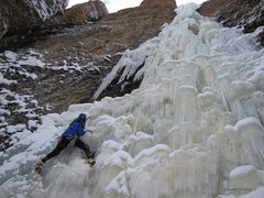 Rock Climbing Photo: Brittle, but safe conditions. Steeep!  Photo...A S...