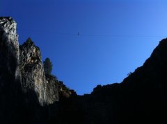 Rock Climbing Photo: Please don't sack line at the Quarry. This activit...