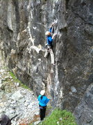 Rock Climbing Photo: Aidan starting the opening moves on Release the Li...