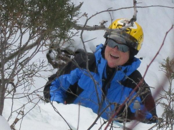 Climbing at Post Creek Falls in January 2013