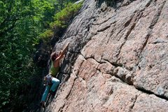Rock Climbing Photo: Jonathan on the FA
