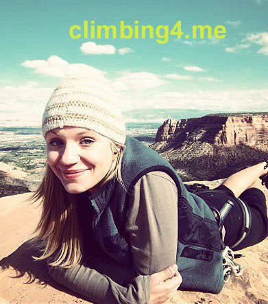 Rock Climbing Photo: Arax our cover girl, relaxing at the top of Indepe...