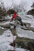 Rock Climbing Photo: Chad from Indiana leading ground up mixed route DL...