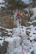 Rock Climbing Photo: Chad from Indiana leading the left stuff DLSTP Feb...