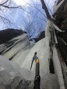 Rock Climbing Photo: Nectar Slice halfway looking up