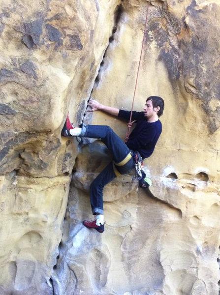 Rock Climbing Photo: Sculpture's Crack