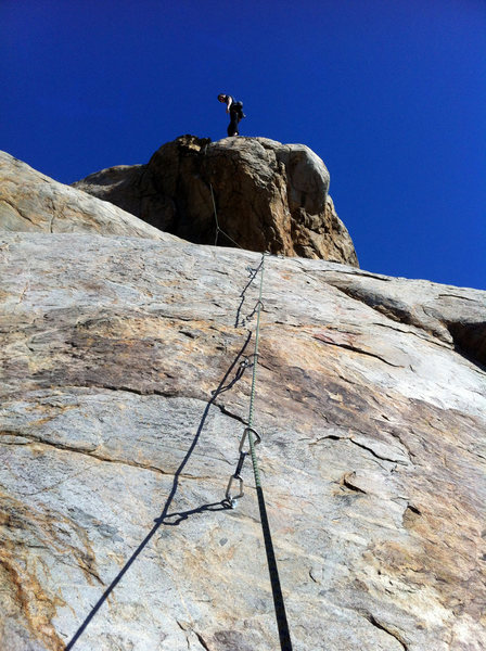 Cameron Carlson on the 2nd ascent of I.N.W.