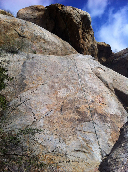 Rock Climbing Photo: I.N.W from the ground up.
