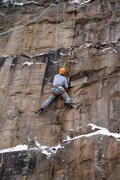 Rock Climbing Photo: Me working up the seam on TR
