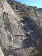 Rock Climbing Photo: The climbers (Andrew, John, Michael) are standing ...