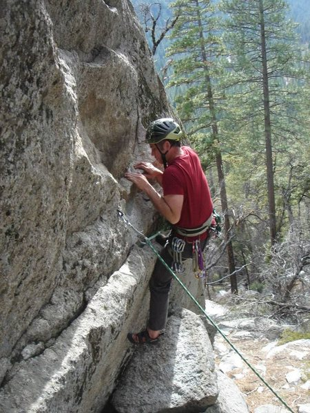 Rock Climbing Photo: The right bolt start.