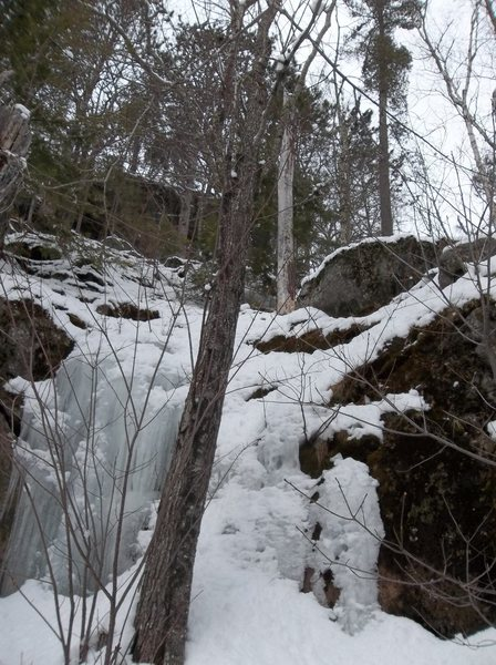 Rock Climbing Photo: Approach ice and snow from nearly at Darth Vader