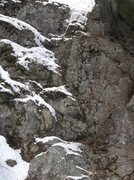 Rock Climbing Photo: The left side ice of Upper Vader
