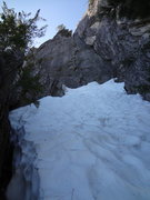 Rock Climbing Photo: Six Toe Crack approach, steep and frozen solid. Ca...