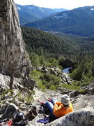 Rock Climbing Photo: 60 degrees and sunny, near Newspaper Ledge, Castle...