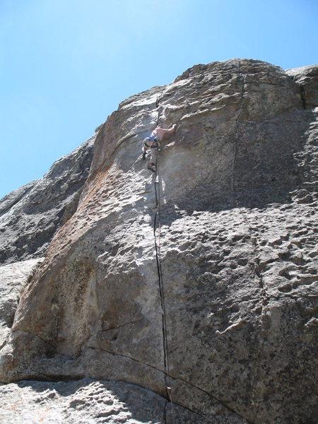 Rock Climbing Photo: Jebus on the lead