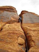 Rock Climbing Photo: Near the good jamming