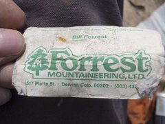 Rock Climbing Photo: Bill Forrest business card, left in 1976, still in...
