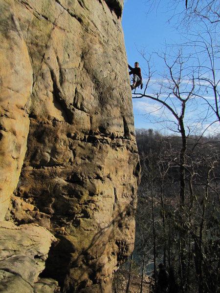 Rock Climbing Photo: Beautiful February day at Summersville!