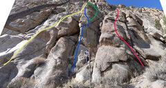 Rock Climbing Photo: BLUE ROUTE.